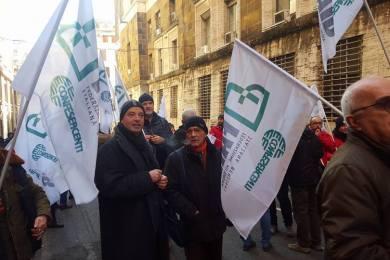 Manifestazione Gestori ESSO davanti al MISE