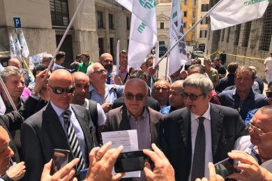 Manifestazione unitaria presso Mi.S.e. Vertenza Api Ip